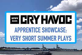 CRY HAVOC Governors Island Apprentice Showcase: Very Short Summer Plays over the sky and water approaching Governors Island